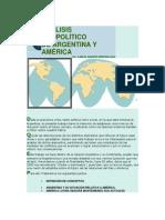 ANÁLISIS GEOPOLÍTICO DE ARGENTINA Y AMÉRICA LIC. CARLOS ALBERTO PEREYRA MELE