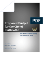 Proposed Chillicothe 2013 budget