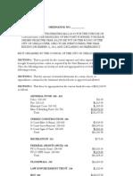 Chillicothe Budget Ordinance 2