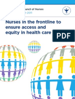 Nurses in the frontline to ensure access and equity in health care