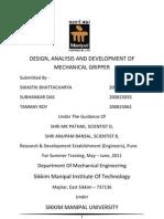 Mechanical Project Report Pdf