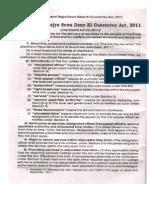 Jharkhand sewa dene ki guarantee Act 2011