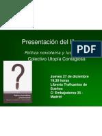 Presentación del Libro Política noviolenta y lucha social