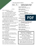 OLP Church Bulletin