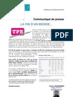 Résultats TPE Alsace