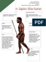 master homo sapien sapiens detailed input