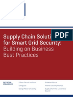 Supply Chain Solutions for Smart Grid Security