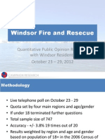 Windsor Fire and Rescue -Quant Study Report