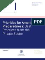 Priorities for America's Preparedness