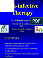 anti-infective therapy