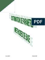 Méthodes d'éstimation de paramètres