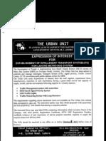 Expression of Interest (BRT) Traffic Management Etc
