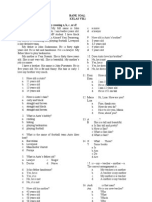 Modul Pengayaan Bahasa Inggris Kelas 7 Semester Ganjil Smp Negeri 2 Toroh Doc
