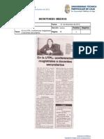 Informe de prensa semana del 14 al 21 de diciembre de 2012