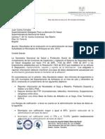 Resultados de Inspeccion y Vigilancia Para Municpios Diciembre 2012