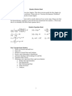 Kinetics Review Sheet