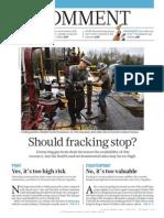 Fracking stop?