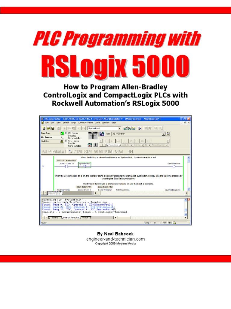 PLC Programming With RSLogix 5000 | Programmable Logic