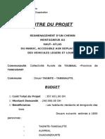 Projet de reamenagement du chemin reluant Imi-Noumassin à Tagnite