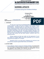 NDRRMC Special Weather Outlook-Christmas Holidays