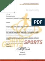 Silvio Guerra Sports Eventos - Proforma Vueltaecuador2011
