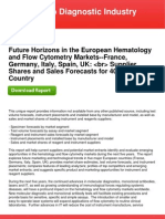 Future Horizons in the European Hematology and Flow Cytometry Markets--France, Germany, Italy, Spain, UK