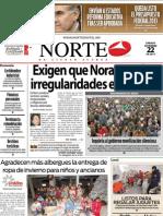 Periodico Norte de Ciudad Juárez 22 de Diciembre de 2012