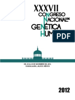 Memorias del Congreso Nacional de Genética  Humana, Guadalajara 2012