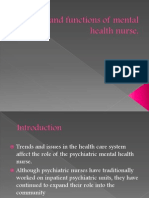 Role and Functions of Mental Health Nurse