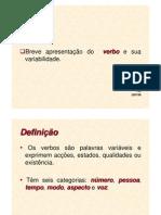 1. O Verbo - Variabilidade