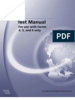 SLEP test manual