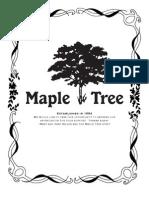 Maple Tree Menu