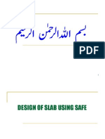 how to design slab in SAFE
