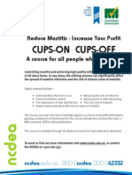 Cup on Cups off Generic Flyer