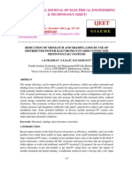 Reduction of Mismatch and Shading Loss by Use of Distributed Power Electronics in Grid Connected Photovoltaic Systems