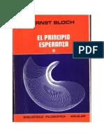 Bloch - El Principio Esperanza