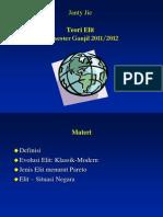 Materi Teori Politik II ' Teori Elite '