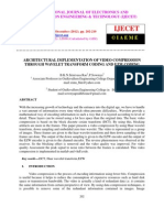 Architectural Implementation of Video Compression Through Wavelet Transform Coding and Ezw Coding