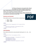 HTML Rezumat