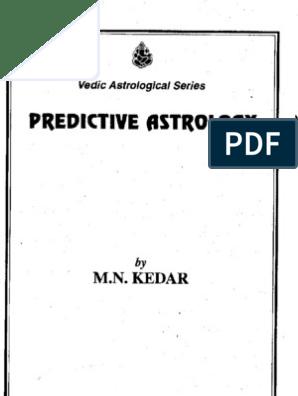 Predictive Jyotish by m n Kedaar | Ancient Science | Astrology