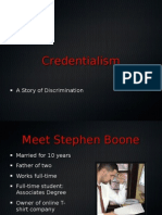 Credentialism Power Point