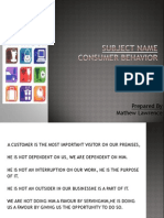 Consumer Behaviour-Internal Factors