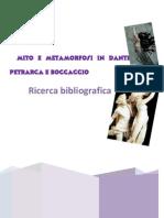 Ricerca Bibliografica sul tema della metamorfosi