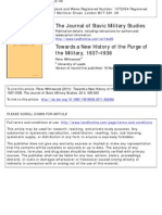 p.whitewood towards a new history of the purge of the military,1937-1938