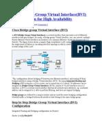 BVI Configuration for High Availability