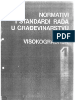 Normativi i Standardi u Gradjevinarstvu Visokogradnja 1