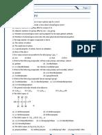 1 Organic Class Sheet 1 - Nomenclature