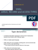 Vhdl- Array, Record and Access Types