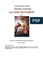 Brochure - NEW REVELATION - CHRISTIANITY UNVEILED - New Testament - ed 1