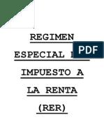 Régimen Especial de Impuesto a la Renta (RER)